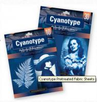 Cyanotypie-Stoffbögen 30-er Packung