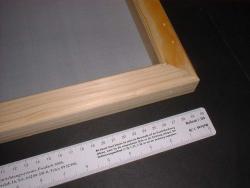 Siebdruckrahmen, 20 x 25 cm, wiederbespannbar